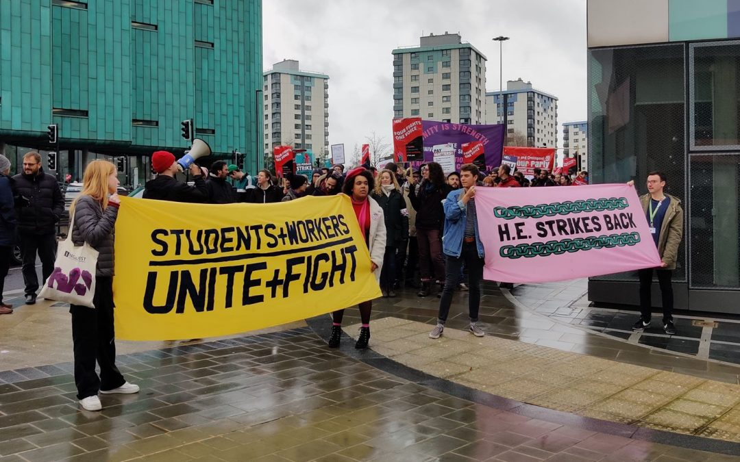 WATCH: UCU protesters rally at City Hall